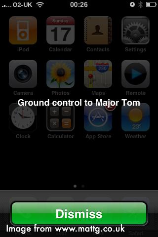 screenshot of message