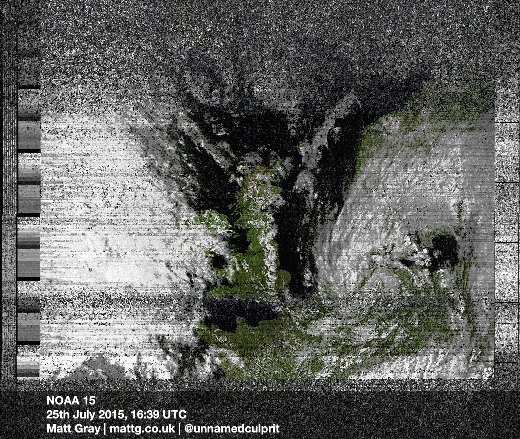 Matt Gray | Receiving Weather Satellite Images for £8